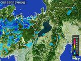 2016年09月29日の滋賀県の雨雲レーダー