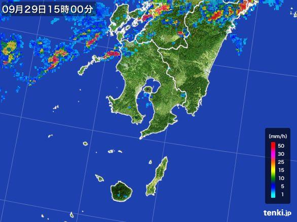 鹿児島県の雨雲レーダー(2016年09月29日)