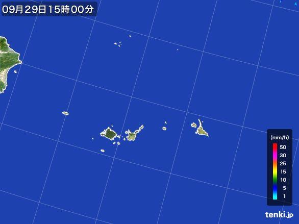 宮古島・石垣・与那国(沖縄県)の雨雲レーダー(2016年09月29日)