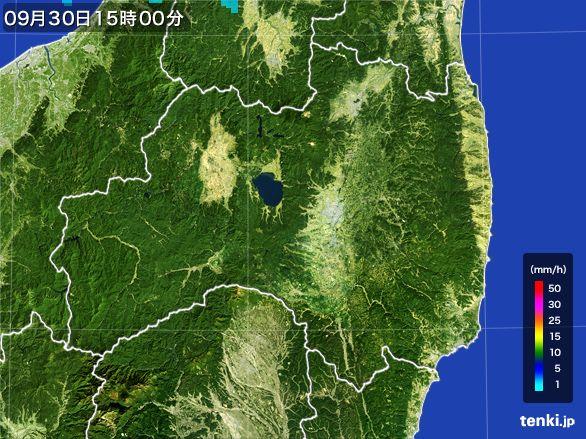 福島県の雨雲レーダー(2016年09月30日)