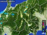 2016年09月30日の長野県の雨雲レーダー