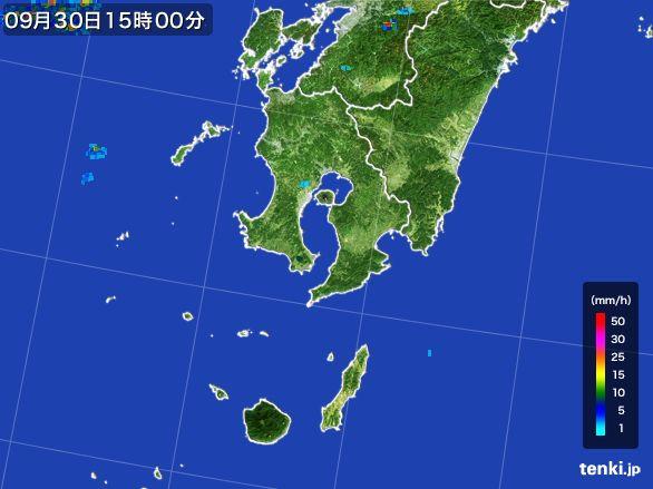鹿児島県の雨雲レーダー(2016年09月30日)