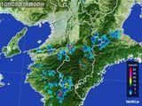 2016年10月02日の奈良県の雨雲レーダー