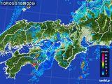 2016年10月05日の近畿地方の雨雲レーダー