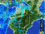 2016年10月05日の奈良県の雨雲レーダー