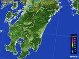 2016年10月05日の宮崎県の雨雲の動き