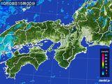 2016年10月08日の近畿地方の雨雲レーダー