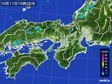 2016年10月11日の近畿地方の雨雲レーダー