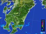 2016年10月11日の宮崎県の雨雲の動き