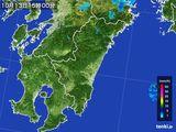 2016年10月13日の宮崎県の雨雲の動き
