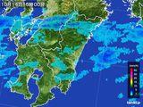 2016年10月14日の宮崎県の雨雲の動き