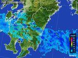 2016年10月15日の宮崎県の雨雲の動き