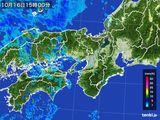 2016年10月16日の近畿地方の雨雲レーダー