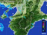 2016年10月16日の奈良県の雨雲レーダー