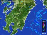 2016年10月16日の宮崎県の雨雲の動き