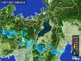 2016年10月19日の滋賀県の雨雲レーダー
