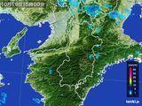 2016年10月19日の奈良県の雨雲レーダー