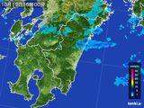 2016年10月19日の宮崎県の雨雲の動き