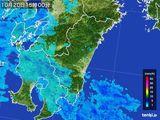2016年10月20日の宮崎県の雨雲の動き
