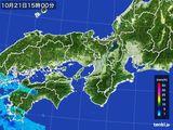 2016年10月21日の近畿地方の雨雲レーダー