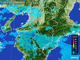 2016年10月22日の奈良県の雨雲レーダー
