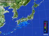 雨雲レーダー(2016年10月23日)