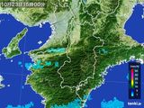 2016年10月23日の奈良県の雨雲レーダー