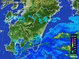 2016年10月23日の宮崎県の雨雲の動き