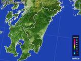 2016年10月24日の宮崎県の雨雲の動き