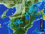 2016年10月25日の奈良県の雨雲レーダー