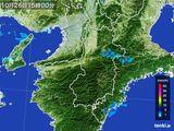 2016年10月26日の奈良県の雨雲レーダー