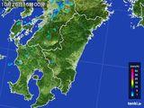 2016年10月26日の宮崎県の雨雲の動き