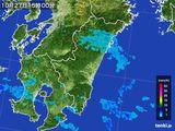 2016年10月27日の宮崎県の雨雲の動き