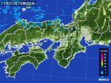 2016年11月01日の近畿地方の雨雲レーダー