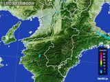 2016年11月03日の奈良県の雨雲レーダー