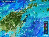 2016年11月08日の滋賀県の雨雲レーダー