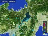 2016年11月09日の滋賀県の雨雲レーダー