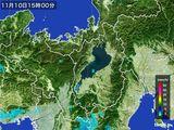 2016年11月10日の滋賀県の雨雲レーダー