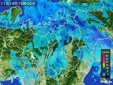 2016年11月14日の滋賀県の雨雲レーダー