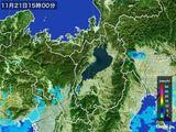 2016年11月21日の滋賀県の雨雲レーダー