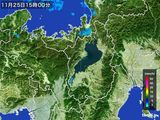 2016年11月25日の滋賀県の雨雲レーダー