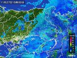 2016年11月27日の兵庫県の雨雲レーダー