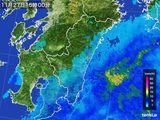 2016年11月27日の宮崎県の雨雲の動き