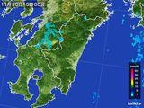 2016年11月30日の宮崎県の雨雲の動き