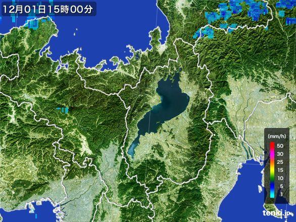 滋賀県の雨雲レーダー(2016年12月01日)