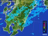 2016年12月01日の宮崎県の雨雲の動き