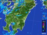 2016年12月04日の宮崎県の雨雲の動き