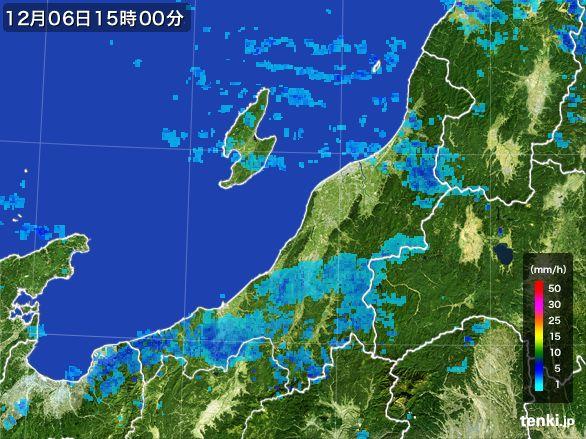 新潟県の雨雲の動き(2016年12月06日)