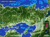2016年12月07日の兵庫県の雨雲レーダー