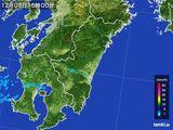 2016年12月08日の宮崎県の雨雲の動き